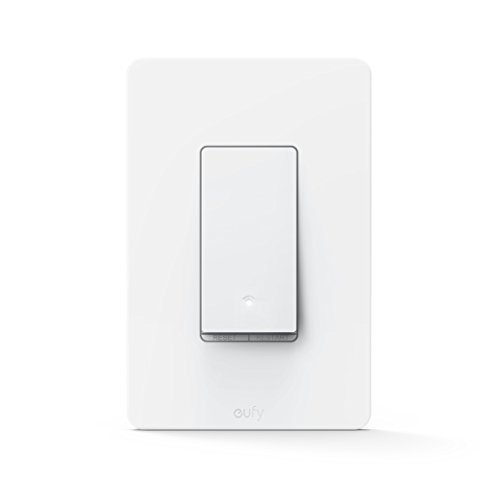 eufy Smart Switch By Anker, Amazon Alexa & Google Assistant Compatible, Wi-Fi, Control from Everywhere, No Hub Required, Easy Installation, Single Pole, Requires Neutral Wire, White, 100~120V AC, 15A