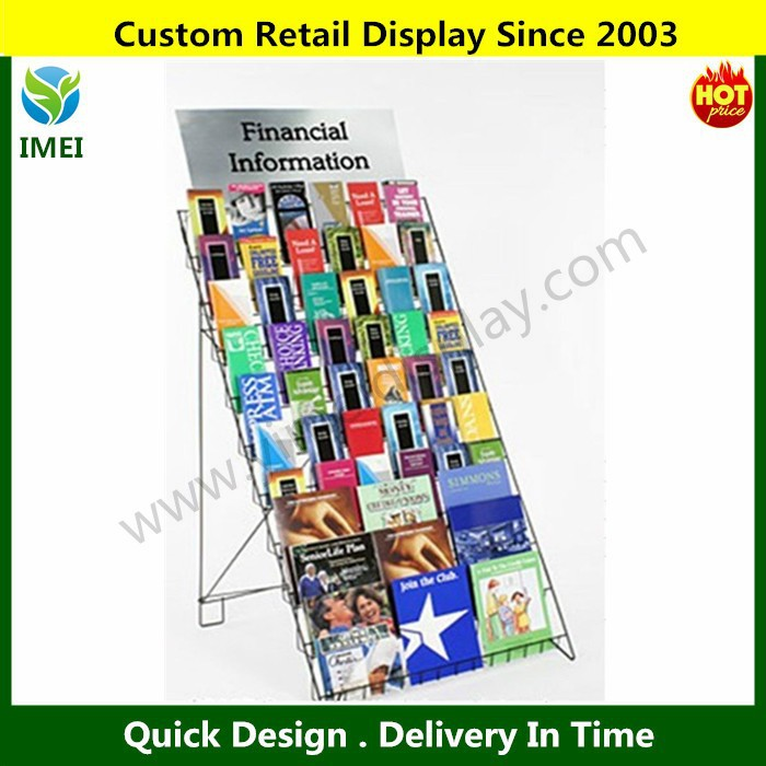 POP 10 Shelf Wire Book CD Magazine metal literature Retail Display