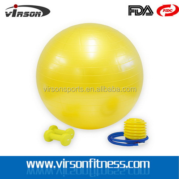 VGB005 Ningbo Virson New style most popular 50cm anti-burst pvc material gym ball