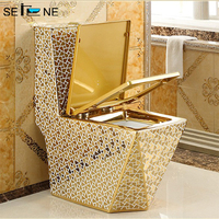 Ceramic sanitary ware commode bathroom water closet gold king toilet