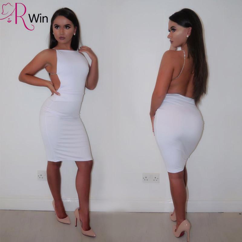 White sexy club dress