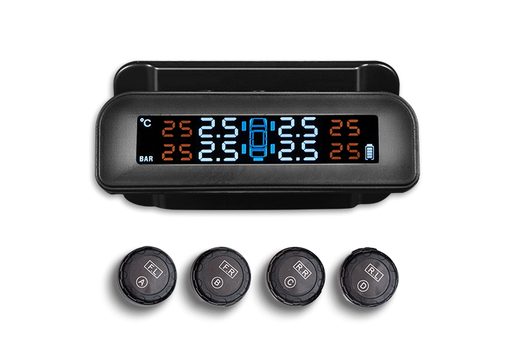 Solar Energy Tire Pressure Monitoring System With LCD Display And Phone App Monitoring 4 Sensors,Tpms For Car