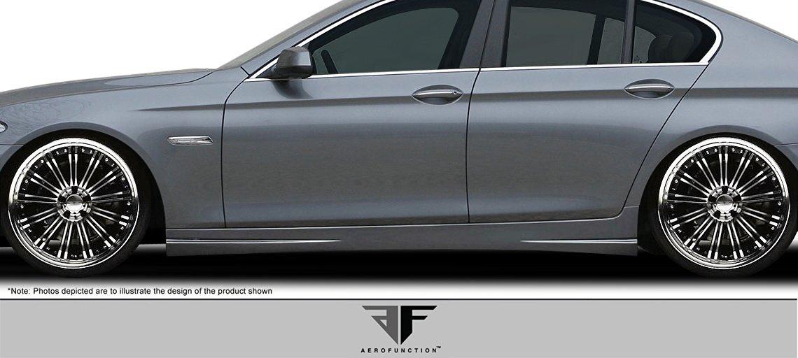 2011-2015 BMW 5 Series F10 4DR AF-3 Side Skirts ( PUR-RIM ) - 2 Piece