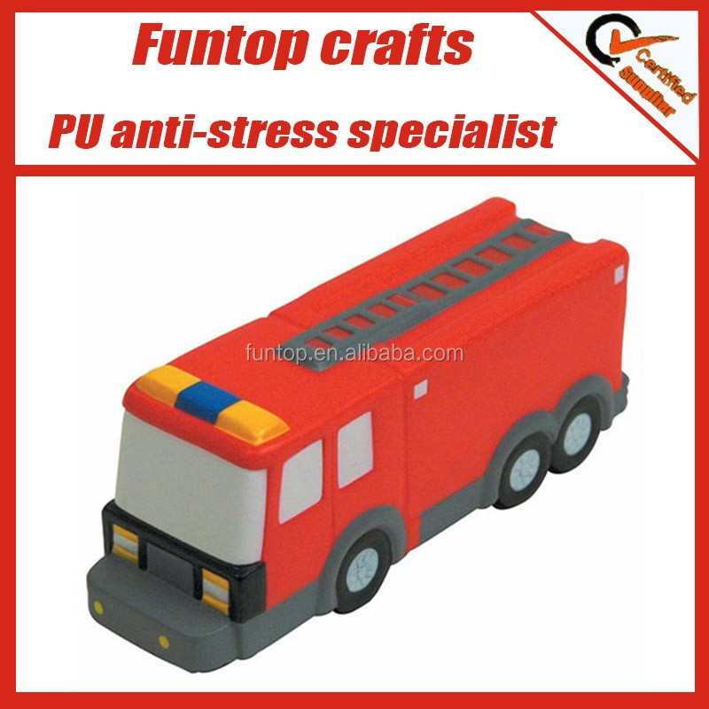 PU foam fire truck customized stress toys