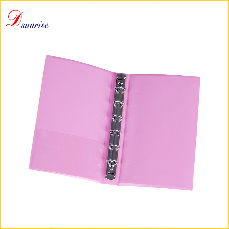 Alibaba supplier stationery 6 hole metal ring binders for A5 paper