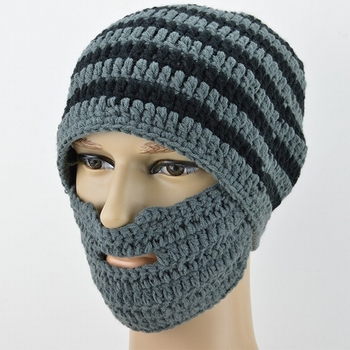 Fashion winter men womens ski mask hats crochet knit beard beanie for sale c7522777b