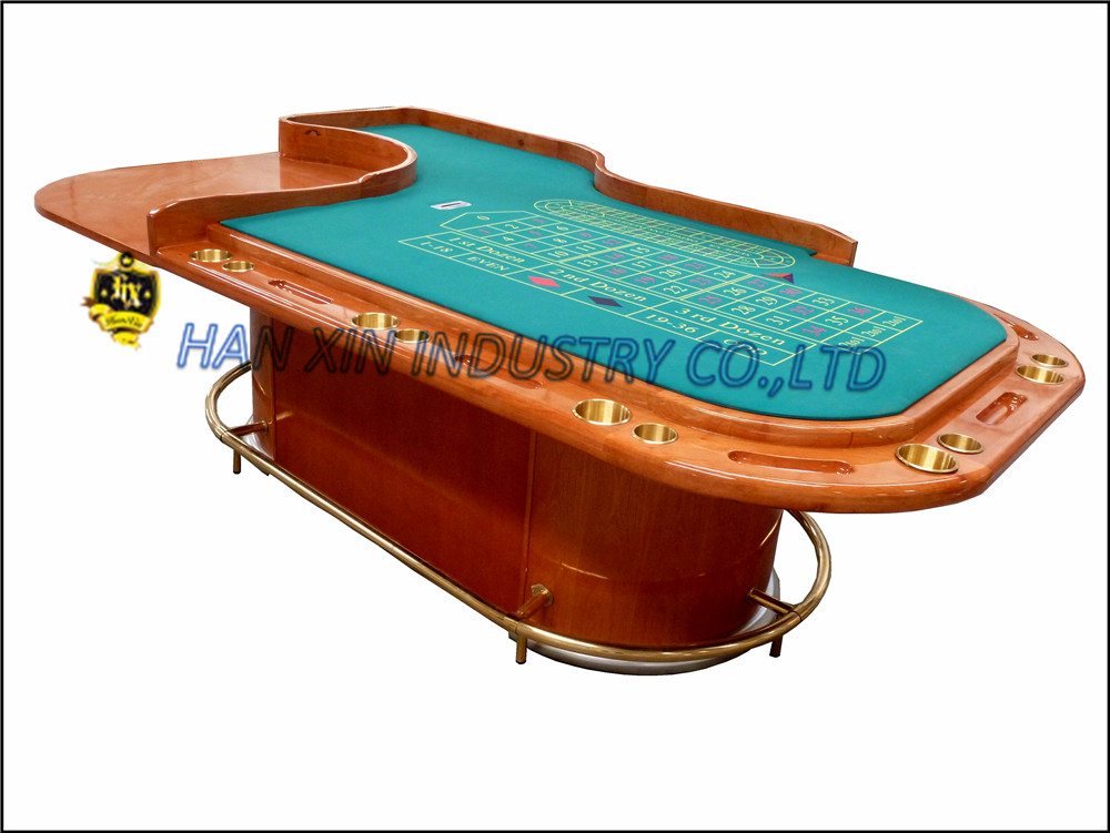 "Deluxe custom casino 32"" roulette wheel game poker table with pedestal"