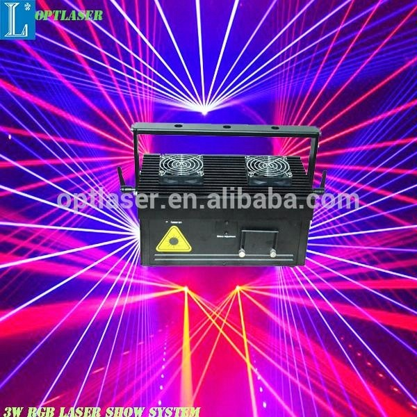 Animation 3W RGB Stage Laser Projector for disco laser lighting.