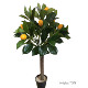Custom height factory artificial lemon trees