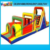 Best quality inflatable land obstacle course for sale/ outdoor obstacle game for kids/ obstacle inflatable game