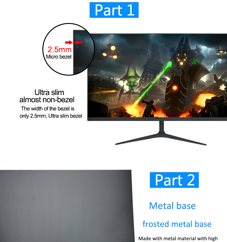 "27"" Inch LED Full HD Monitor for Computer 2K 27 Inch LCD PC Gaming Monitors 144 Hz"