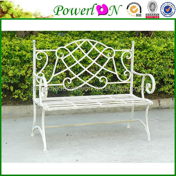 Sale Classic Vintage Wrough Irons Antique Metal Park Bench Garden Furniture For Outdoor Patio