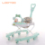 Cheap cost animal two in one sit-to-stand pusher baby walker in circle for baby first step