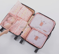 6 Pcs/Set Waterproof Clothes clear storage bags travel storage bag luggage packing bag cube organizers