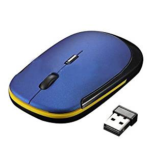 USB Optical Wheel Mouse - TOOGOO(R)Ultra-Slim Mini USB Wireless Optical Wheel Mouse Mice for All Laptop HP Dell(blue)
