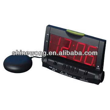 alarm lcd clockwith Bed Shaker/Big LED Alarm Clock