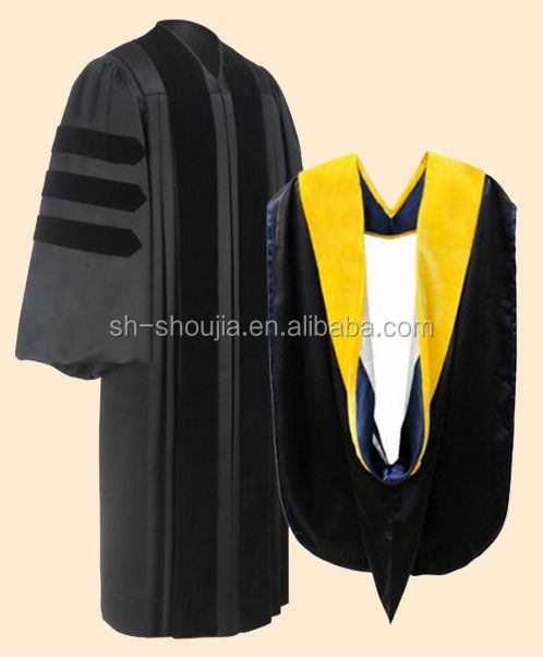 Good look and top quality graduation gown for master/doctor