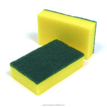Kitchen Cleaning Dish Sponge with Green Scouring Pad, Cleaning Product for Household