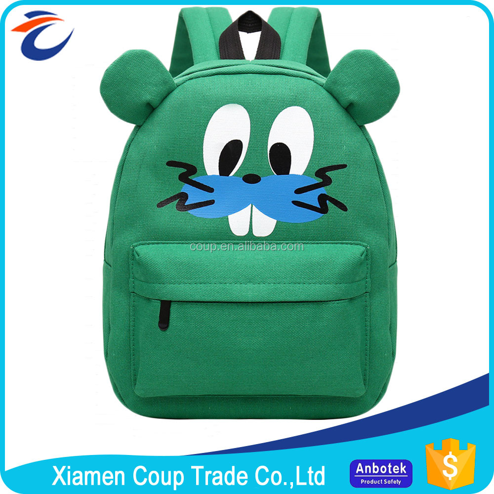 New Style China Factory Directly Supply Canvas Wholesale School Book Bags Kids Cartoon Picture Of School Bag