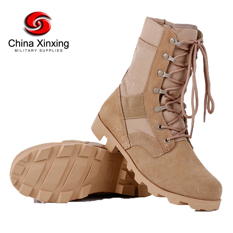 military boots suede leather full grain leather army tactical military battlefield men's EVA sole shoes jungle boots for army