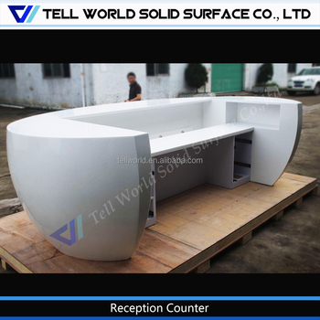office receptionist desk. White Customized Half Round Receptionist Desk Office Reception Counter Front Table For Sale