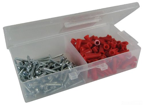 L.H. Dottie RD3 Anchor Kit, 8 by 1-Inch Length Screw, 22 Anchor, Red