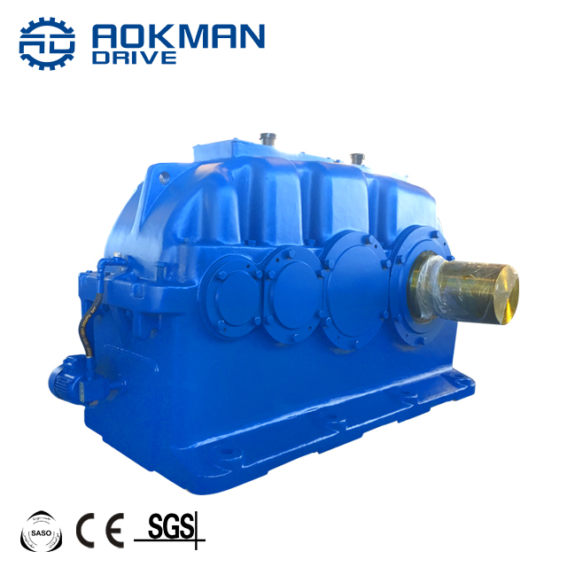 Low Noise ZLY Series 2 Stage Single or Double Parallel Solid Shaft Helical Crane Gearbox Motor