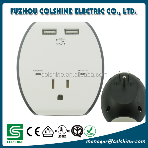 ETL certified American outlet receptacle with USB and surge protection 120V 15A
