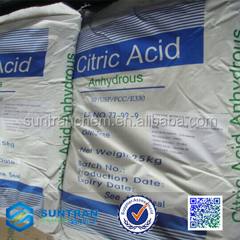 china ensign manufacturers e330 monohydrate citric acid