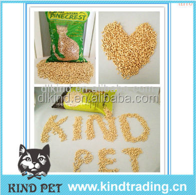 2015 hot sale pine wood pellet cat sand,factory cat litter