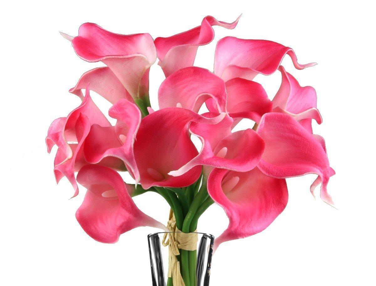 Buy juyo vonsan artificia flowers calla lily bridal wedding bouquet juyo vonsan artificia flowers calla lily bridal wedding bouquet latex real touch pu flower bouquets izmirmasajfo