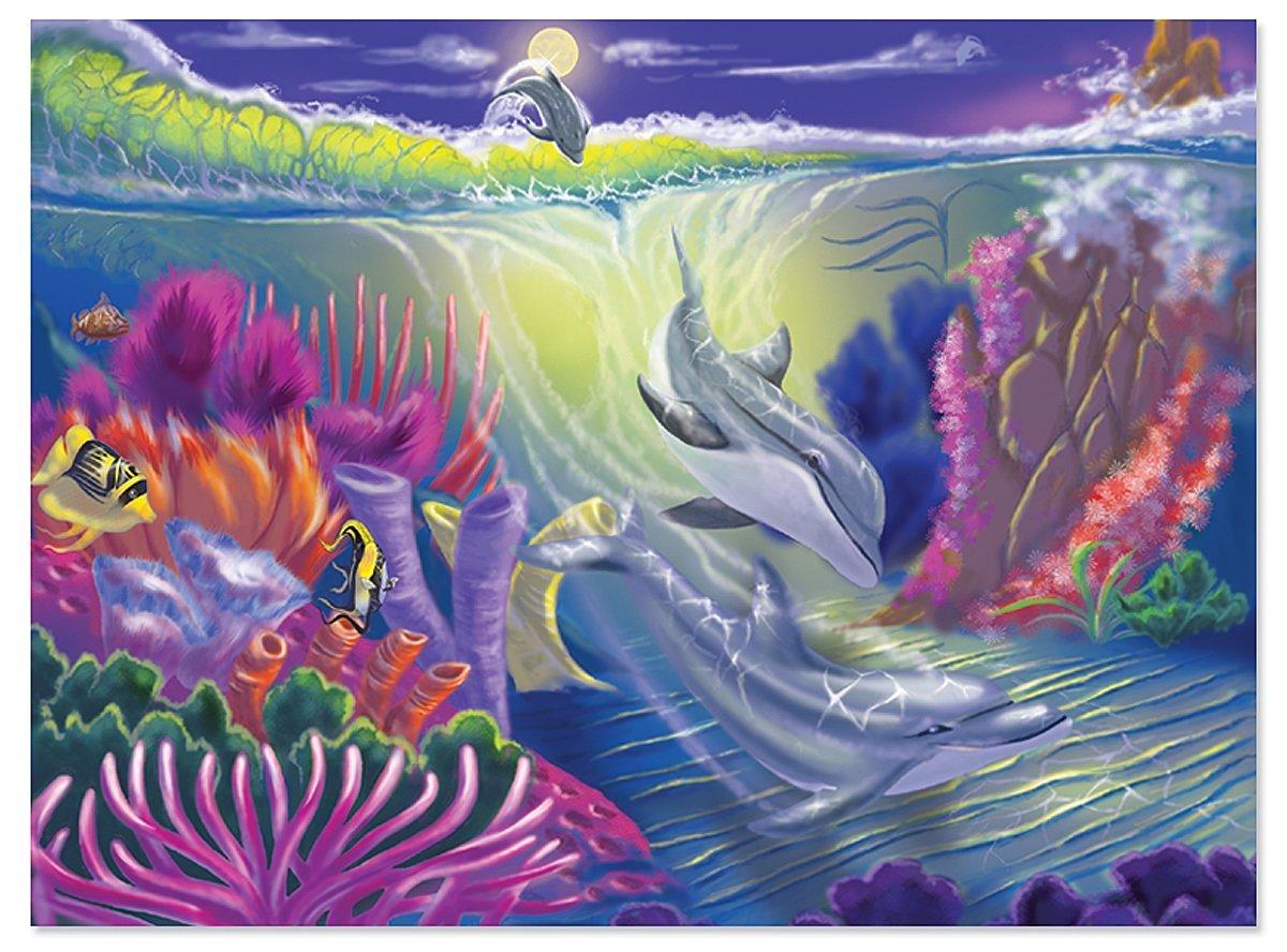 Melissa & Doug Dolphin Cove Jigsaw Puzzle, 100-Piece