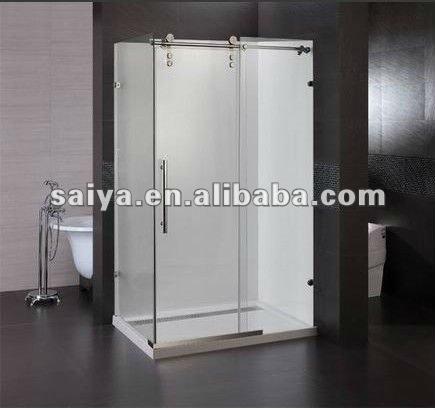 sus mampara ducha de vidrio sin marco puerta corrediza de ducha puerta de vidrio