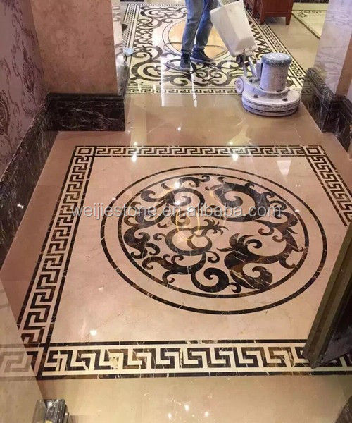 Dark Emperador Mixed Crema Marfil Marble Home Entrance Floor Tiles