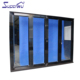 Aluminium alloy customized NOA code unbreakable glass folding door with flynet