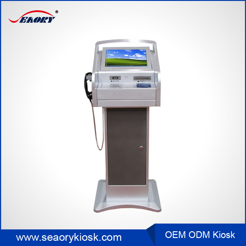 24 h surface acoustic wave touch screen visitor management kiosk with high performance windows 7 industrial PC