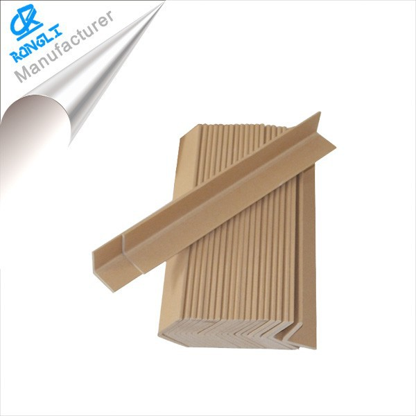 Waterproof recycle paper angle bead/paper corner protector/paper edge board for packing