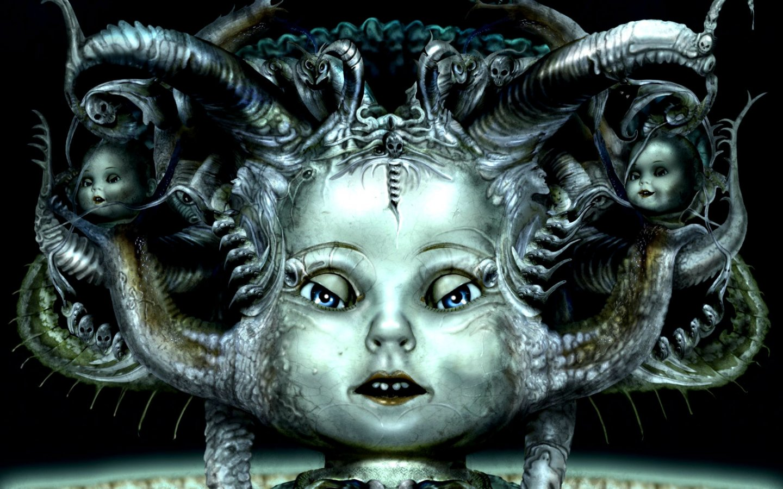dark doll dolls gothic occult 4 Sizes Wall Decor Canvas  Poster Print
