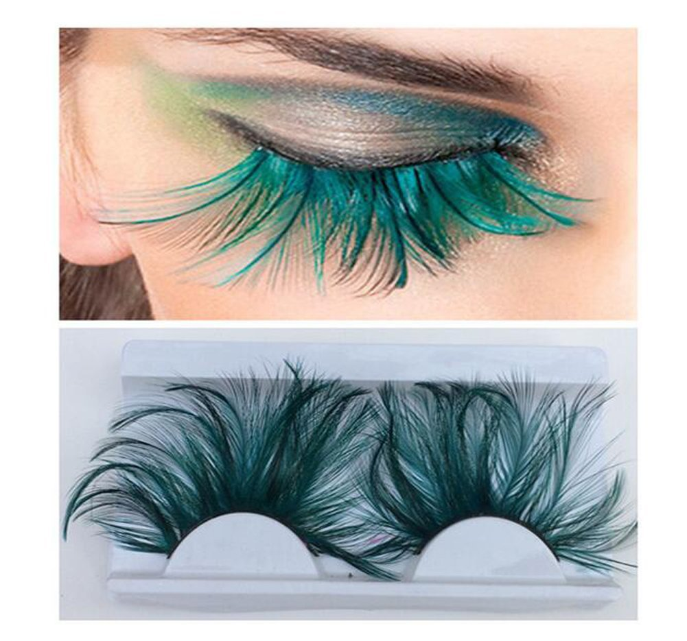 0cf18cf4d18 Get Quotations · 1 Pair Feather Eyelashes False Eyelashes Long Feather  Flake Eyelash Reusable Best Fake Lashes for Party