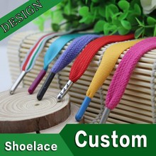 3m manufacturing flat colored custom wholesale shoe laces different tips with logo