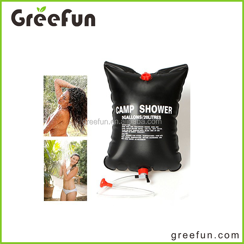 2017 New Design Hot Selling Foldable Outdoor Camping Shower Bag , High Quality Update PVC Plastic Folding Solar Heated Water Bag