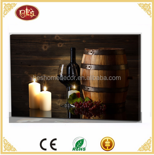wine LED light painting wine pictures with lights