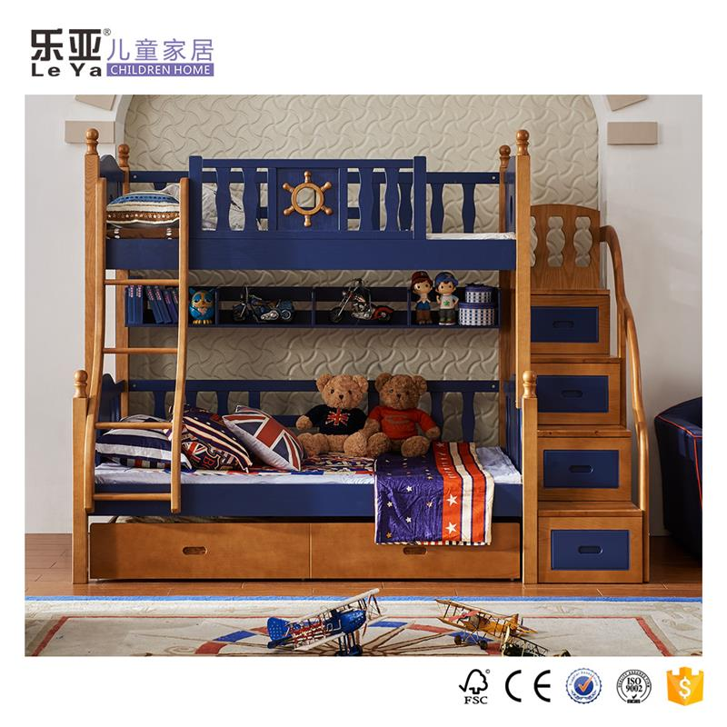European style kids bunk <strong>bed</strong> for kid children <strong>bed</strong> Wooden furniture
