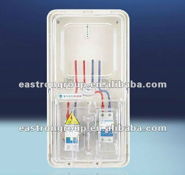 single phase energy meter cabinet transparent case, IP54 Electronic meter box