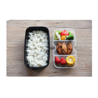 Good Quality Custom Colours Cheaper Price Plastic Disposable 3 Compartment Food Takeaway Container Lunch Box With Lid