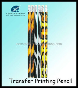 hot sales 7inch HB heat Transfer printing/printed office using pencil with eraser yiwu pencil factories,pencils with logo