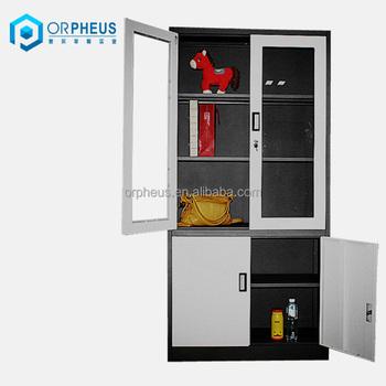 Custom Steel Machinery Cabinets Metal Pharmacy Cabinet,4 Adjustable Shelves  Knock Down Design Steel Cabinets