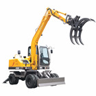 Forest harvest 6.5 Tons grabber excavator with log grapple for sale