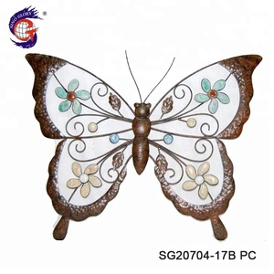 China Wholesale Iron Wall Hangings Metal Butterfly Home Decor