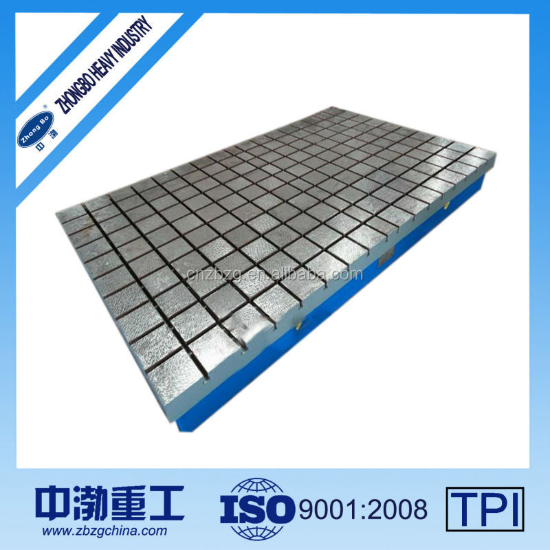 Floor With T-slots And Holes Machine Assembly Cast Iron Surface Plate
